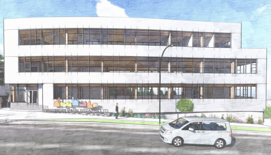 Oakcrest Headquarters will be made with CLT and Glulam.