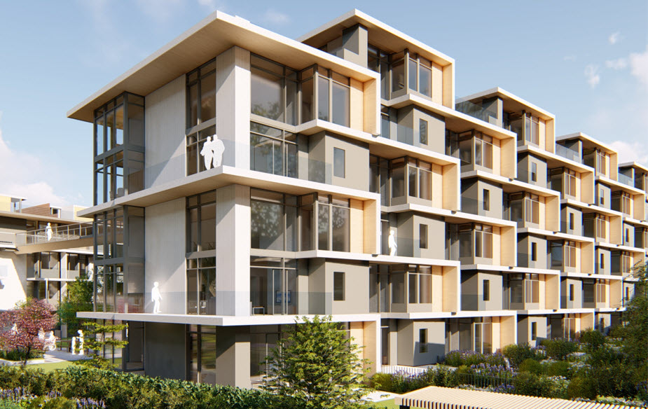 Mass timber will be used throughout the 77-unit mid-rise housing project.
