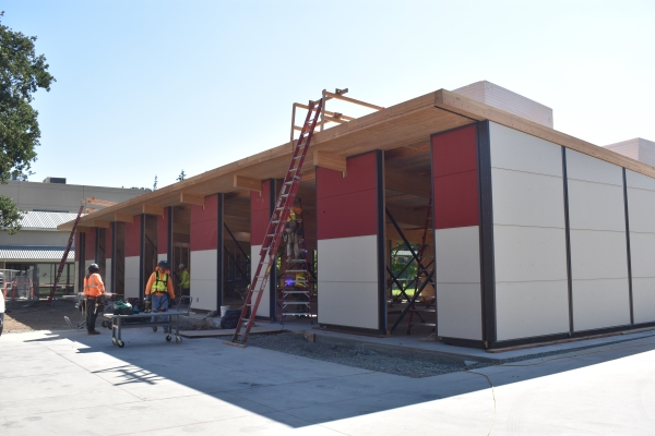 Construction takes place at Sacred Heart Schools.