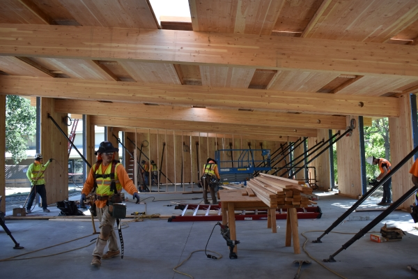 Construction takes place at Sacred Heart Schools